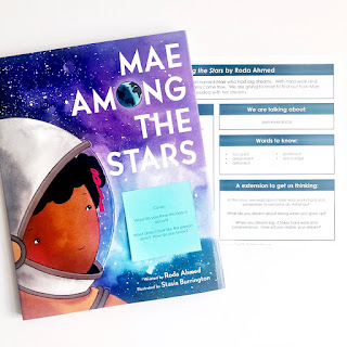 https://www.teacherspayteachers.com/Product/Mae-Among-the-Stars-Interactive-Read-Aloud-and-Writing-Activity-4399081