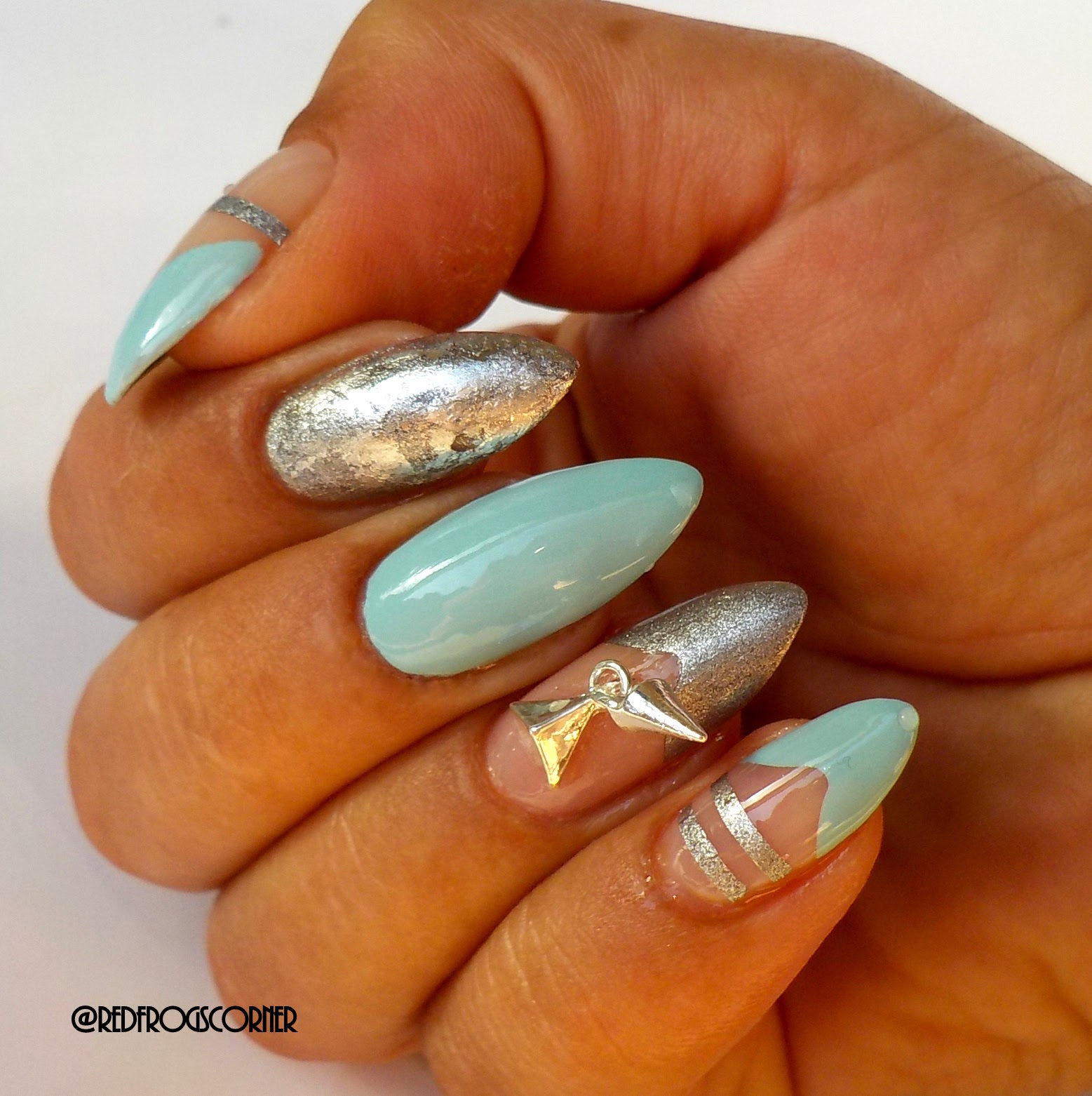 Red Polish Or Bad Polish Punk Bling Nails With Born Pretty Store