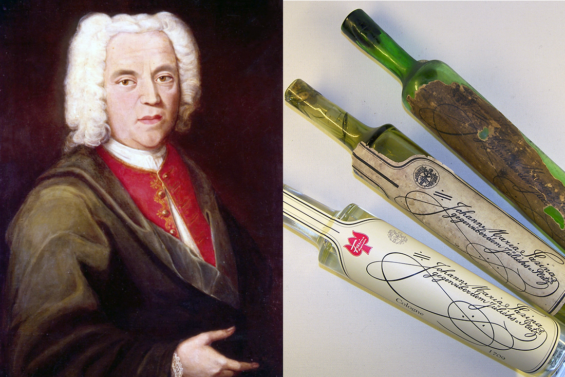 Giovanni Maria Farina (1685-1766), butelki Eau de Cologne