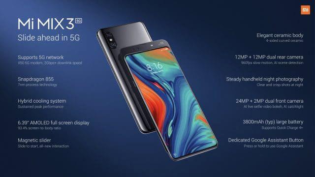 معرض MWC 2019 : شاومي تعلن عن هاتف Xiaomi Mi Mix 3 5G