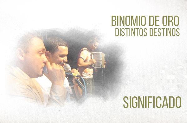 Distintos Destinos significado de la canción Binomio De Oro Jean Carlos Centeno Jorge Celedón.