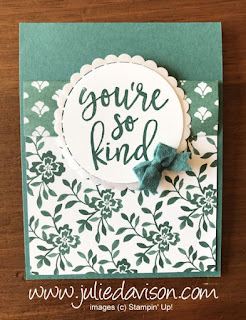 Stampin' Up! 2017-2019 In Color Notes of Kindness Cards ~ Tranquil Tide ~ www.juliedavison.com