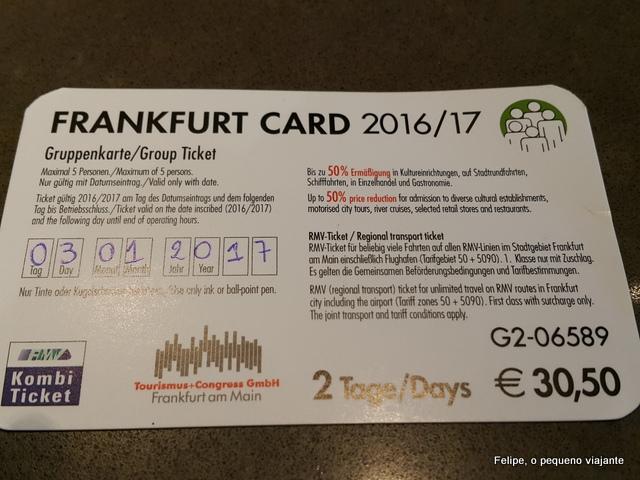 frankfurt card alemanha
