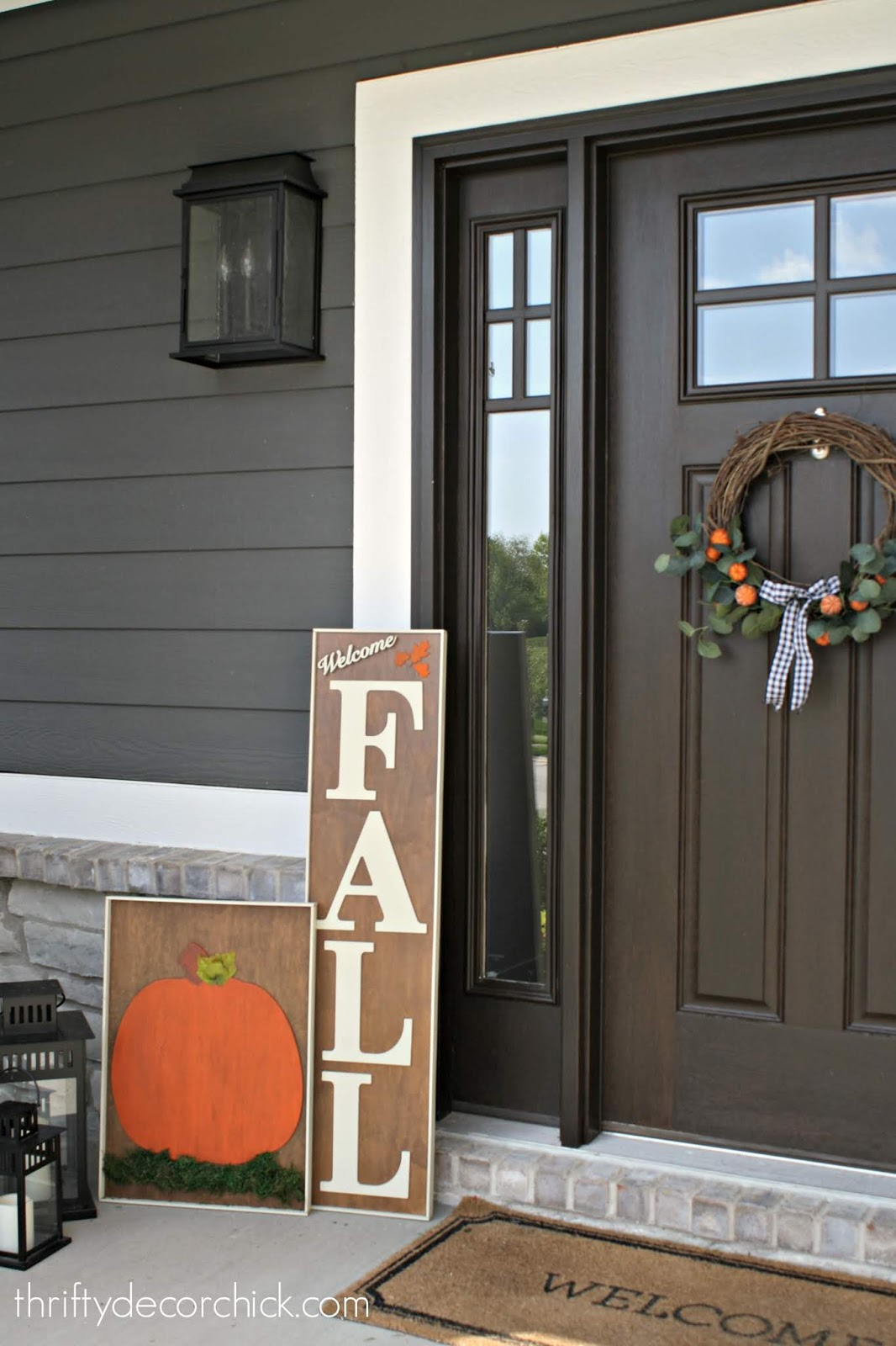 How To Make Large Fall Signs For The Front Porch From