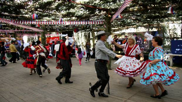 """Celebration of """"Fiestas Patrias"""" (National Day) in Chile."""