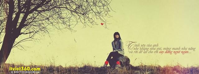 Ảnh bìa Facebook tình yêu buồn - đẹp mới nhất, cô gái ngồi khóc buồn 1 mình