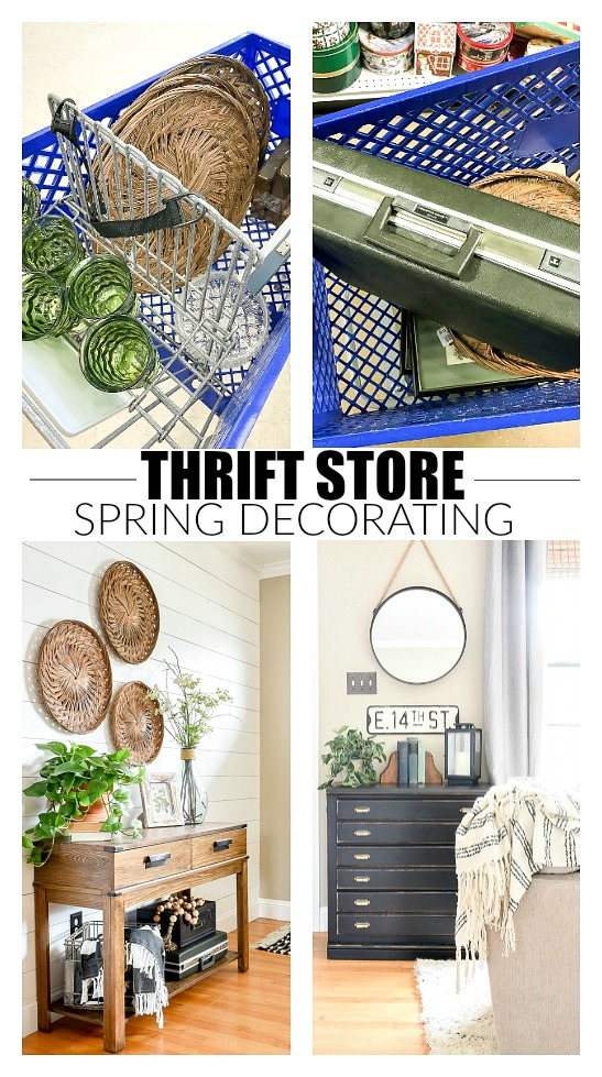 How to decorate for spring using thrift store finds