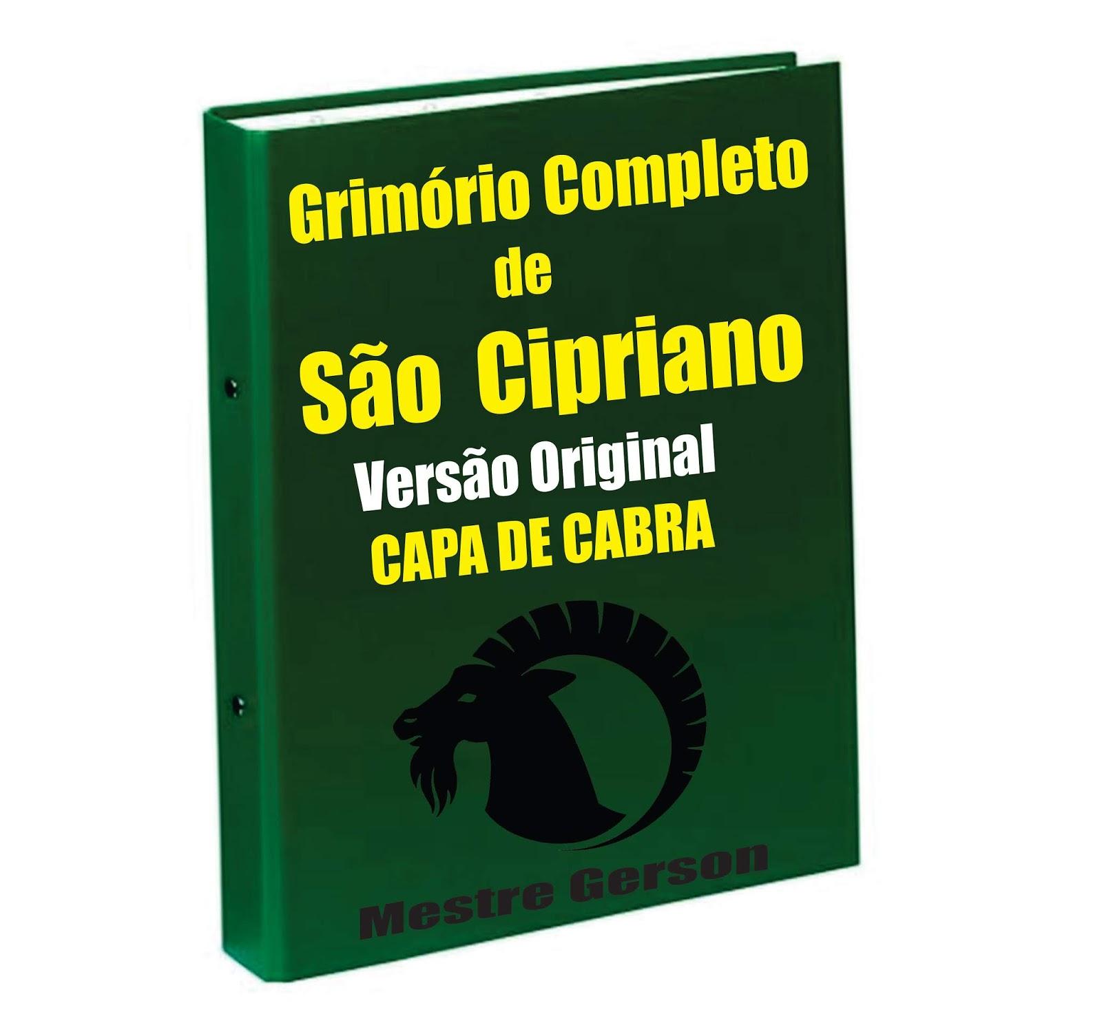 GRIMÓRIO COMPLETO DE SÃO CIPRIANO CAPA DE CABRA