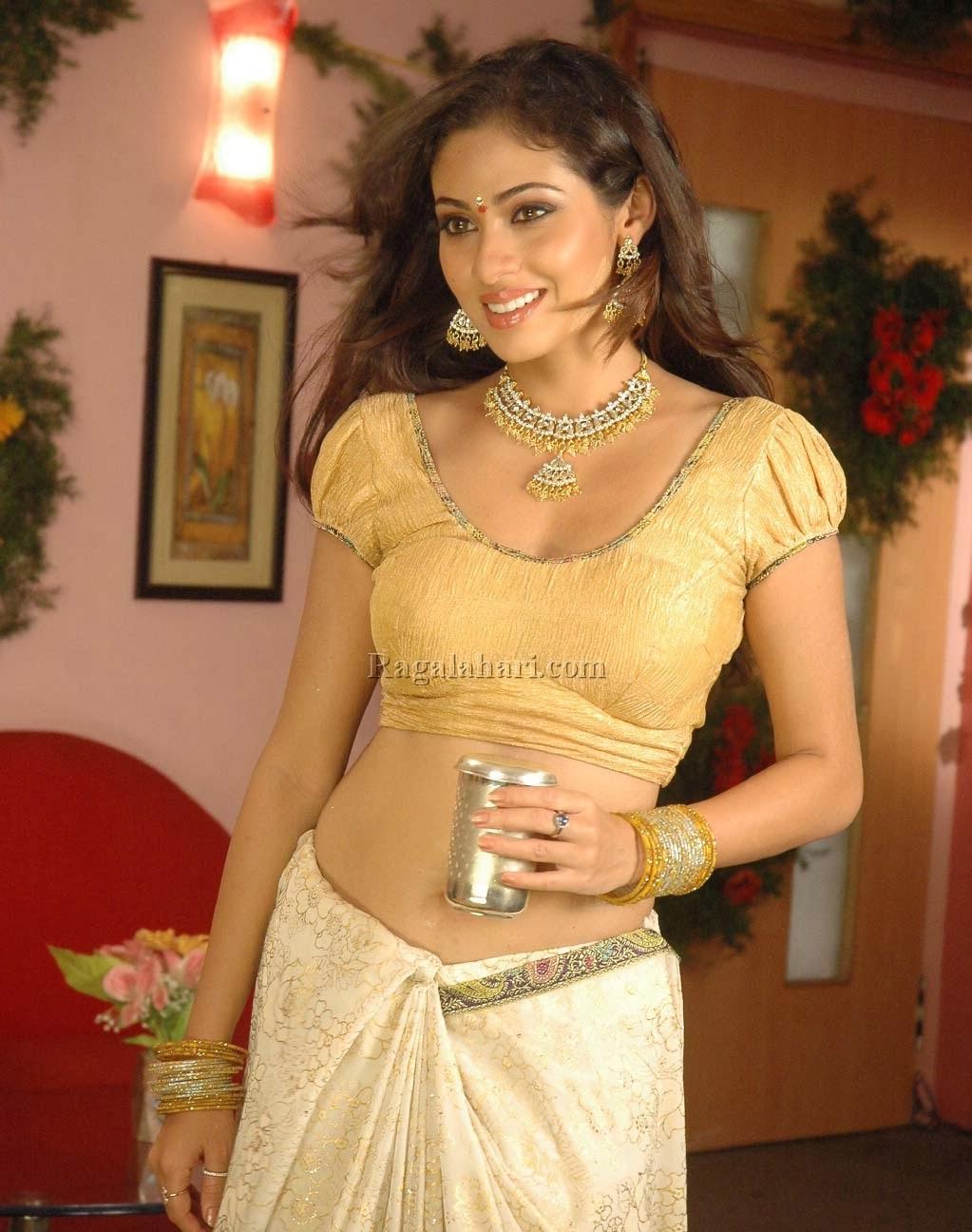 South Actress Hot Pics: Sada Hot Navel Photos In Saree