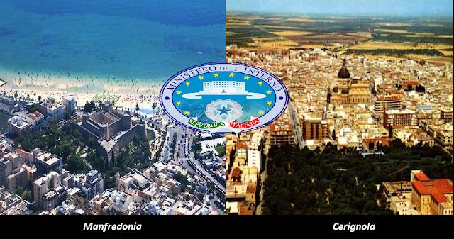 Presunte infiltrazioni mafiose nelle Amministrazioni di Cerignola e Manfredonia. I primi dettagli del via al controllo