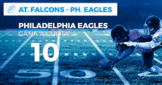 Paston Megacuota NFL Atlanta Falcons vs Philadelphia Eagles 8 septiembre