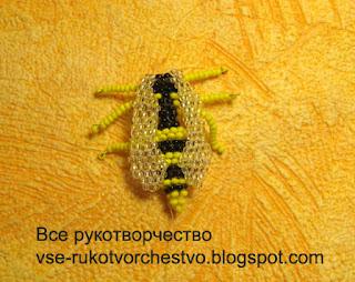 Оса из бисера кирпичным плетением. Мастер-класс с фото