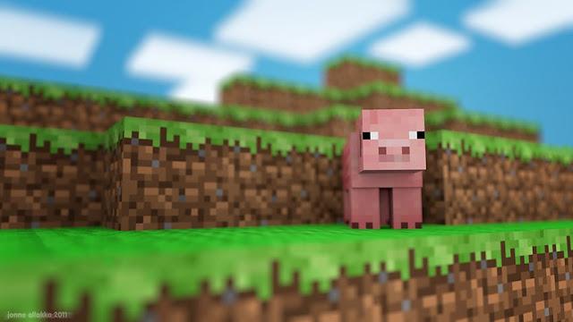 cerdo bonito en minecraft