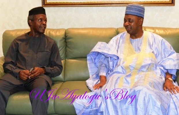 BREAKING: Osinbajo hosts Jonathan's VP in Aso Rock