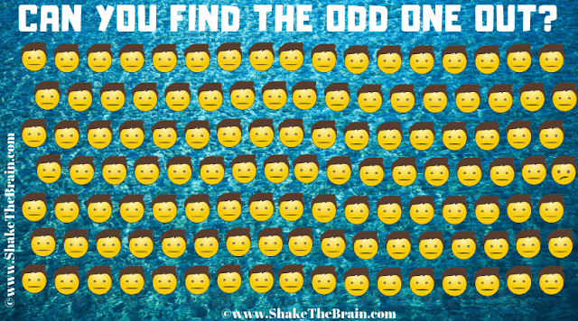 In this Find the Emoji Brain Teaser, your challenge is to find the Emoji which different from others