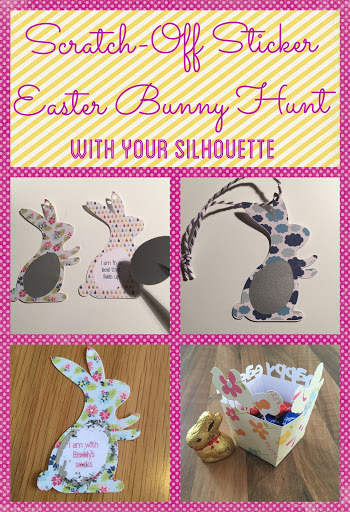 Scratch-Off Sticker Easter Bunny Hunt Silhouette tutorial by Craft Chatterbox on the UK Silhouette Blog