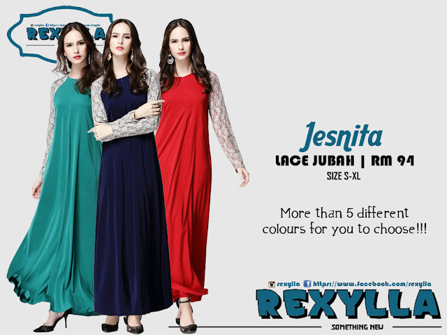 rexylla, joint lace, lace, jubah, jesnita collection