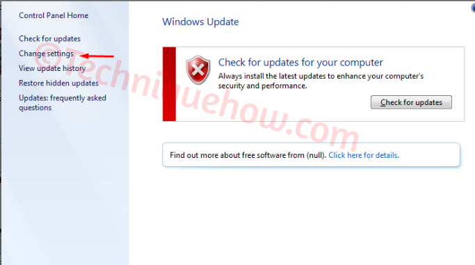 Turn off Automatic Updates on Windows 7_change default