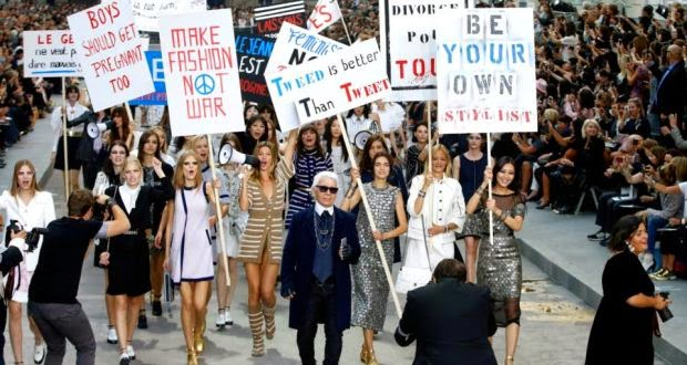 Chanel fashion show protest