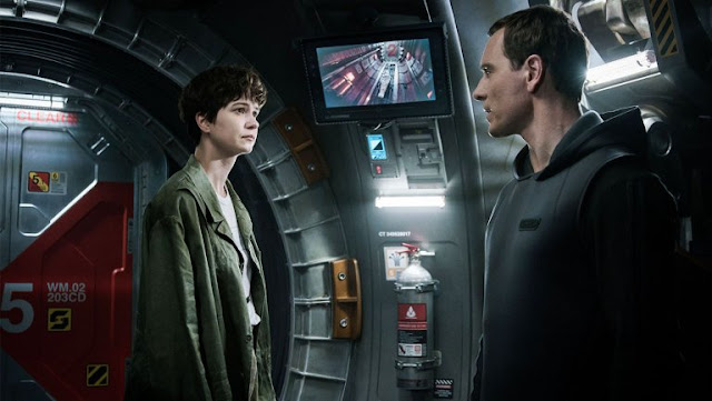 "Katherine Waterston and Michael Fassbender in ""Alien: Covenant"""