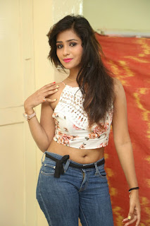 Deekshita Parvathi in a short crop top and Denim Jeans Spicy Pics Beautiful Actress Deekshita Parvathi January 2017 CelebxNext (36).JPG