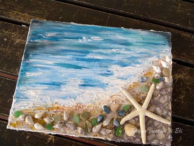 tela-spiaggia-marina-tecnica-mixed-media-tutorial
