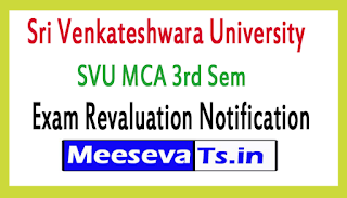 Sri Venkateshwara University SVU MCA 3rd Sem Exam Revaluation Notification