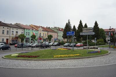 Leżajsk rynek rondo Jana Pawła II