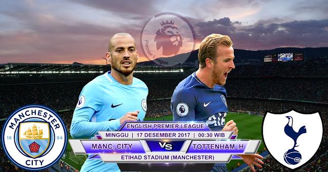 BOLA 365 - Prediksi Manchester City vs Tottenham Hotspur 17 Desember 2017