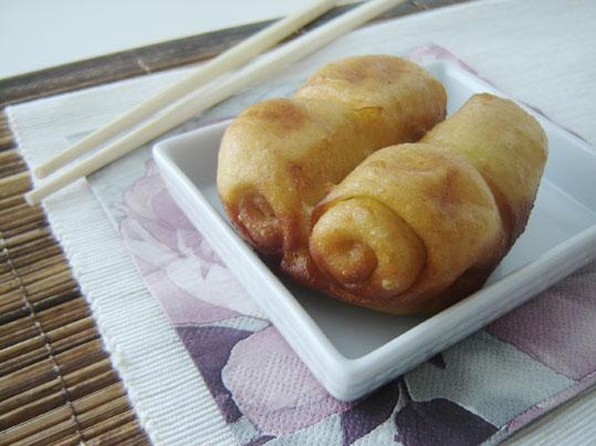 pan chino frito (flores de mantou)