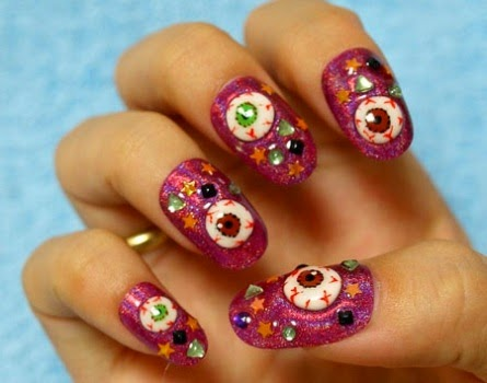 awesome yet scary halloween nail art designs and stickers