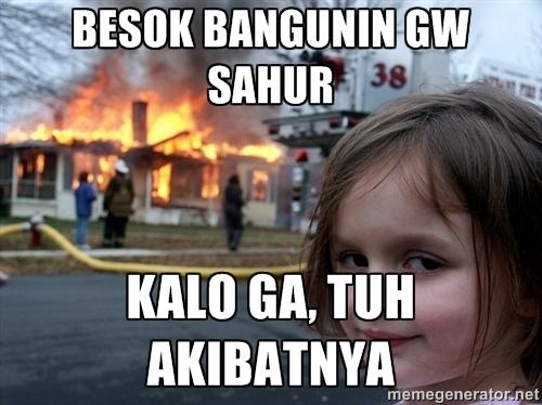 Meme Lucu Sahur Gambar Puasa Ramadhan Untuk DP BBM