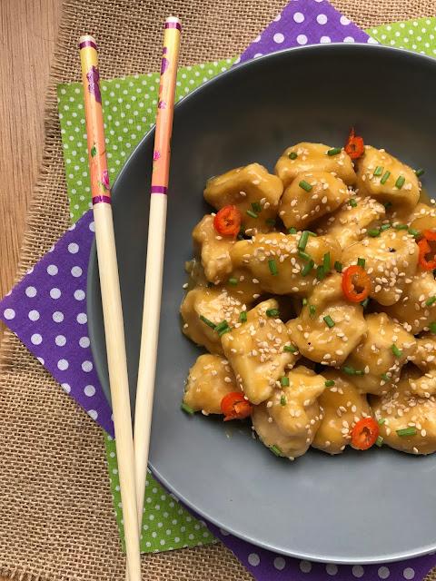 pollo chino a la naranja receta