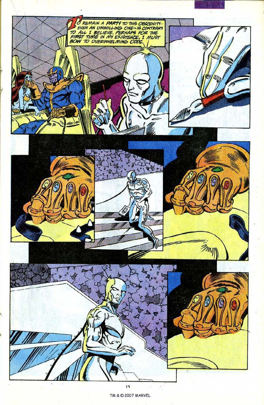 Read online Silver Surfer (1987) comic -  Issue #56 - 17