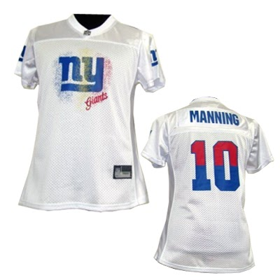 6541c08a6 NFL New York Giants %2310 Eli Manning White 2011 Fem Fan Women Jersey1996