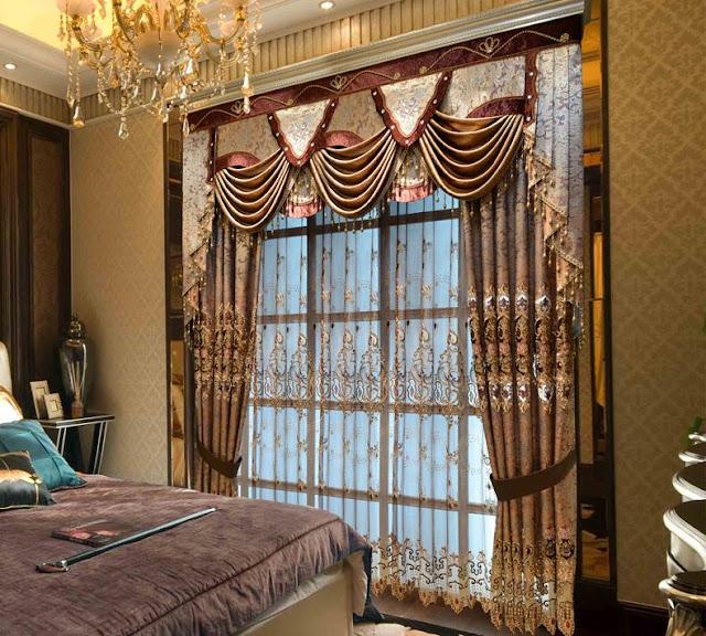 أحدث وأفضل صور ديكورات ستائر غرف النوم المودرن