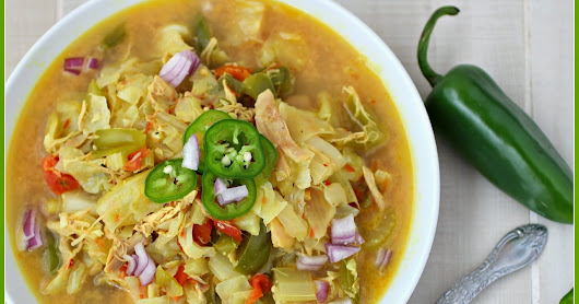 Thai Cabbage and Chicken Soup