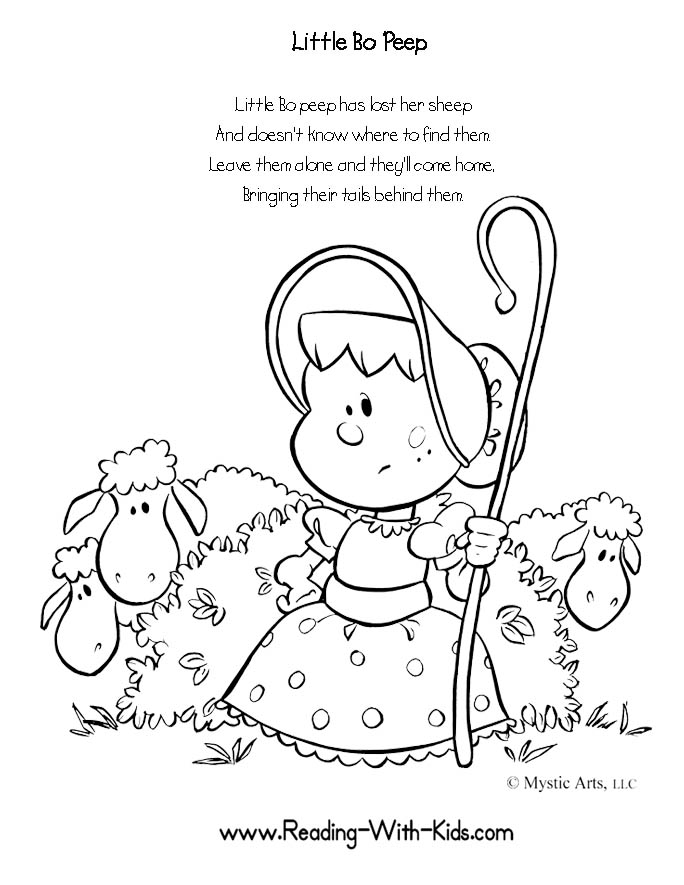 Coloring pages nursey rhymes ~ inkspired musings: Little Bo Peep Nursery Rhymes with ...