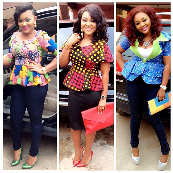 ankara tops and black jeans (3)