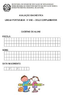 Avaliação diagnóstica português 5º ano