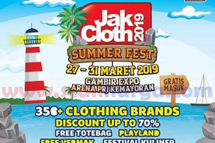 JAKCLOTH Gambir Expo Arena PRJ Kemayoran 27 - 31 Maret 2019