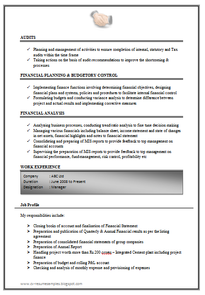 Good Management Accountant Cv | Sample Customer Service Resume