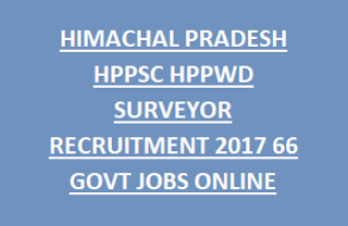 HIMACHAL PRADESH HPSSSB HPPWD SURVEYOR RECRUITMENT NOTIFICATION 2017 66 GOVT JOBS APPLY ONLINE