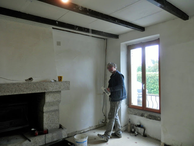 Renovation project - French plaster boarding and joint filling