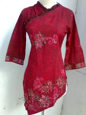 Baju atasan motif batik untuk anak muda