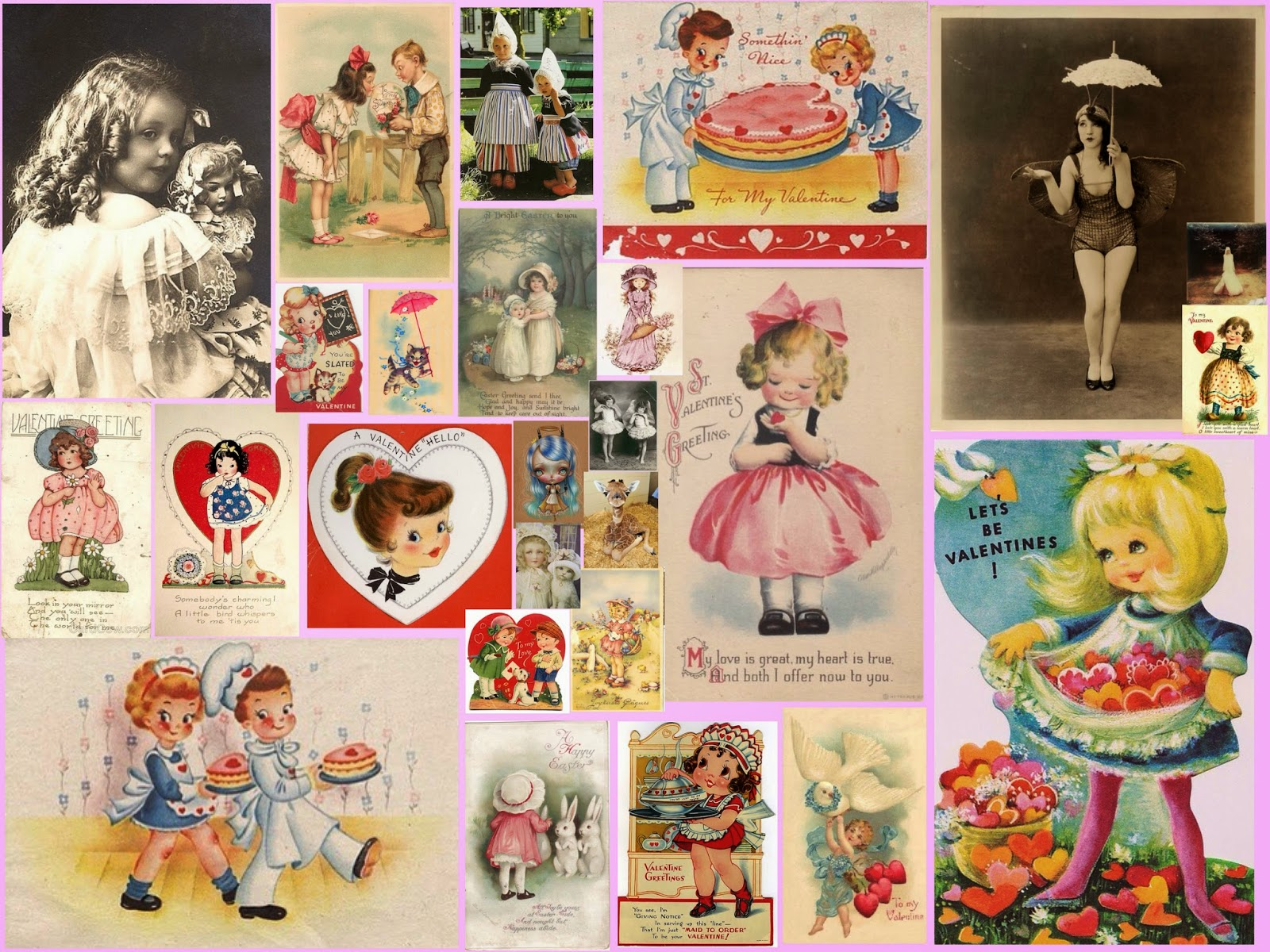 Valentine collage by Alice Solantania Saga