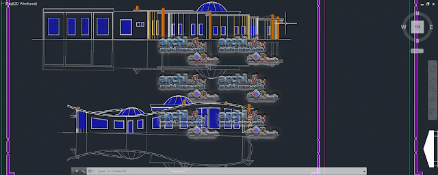 Vertical projections of the project (sections ( Multi clinic dwg
