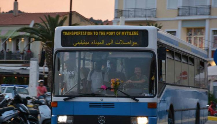 Με Αραβική ταμπέλα κυκλοφορούν τα Λεωφορεία στην Μυτιλήνη – Εκτός ελέγχου η κατάσταση