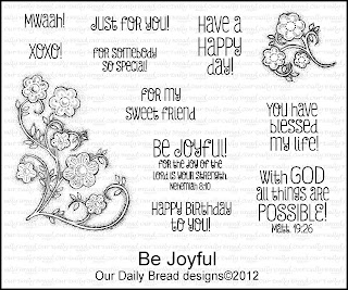 our daily bread designs, be joyful