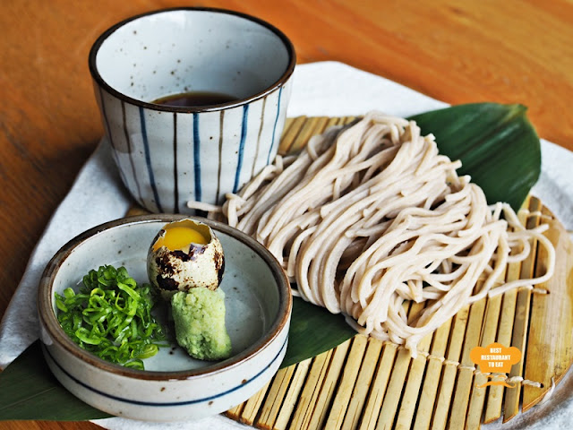 Zaru Soba which is Cold Buckwheat Noodles served with Dipping Sauce - Kimi-Ya Japanese Restaurant New Menu 2018 Old Klang Road Kuala Lumpur